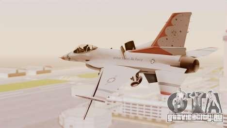 General Dynamics F-16A USAF Thunderbirds для GTA San Andreas вид справа