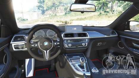 BMW M4 GTS для GTA 5 вид сзади справа