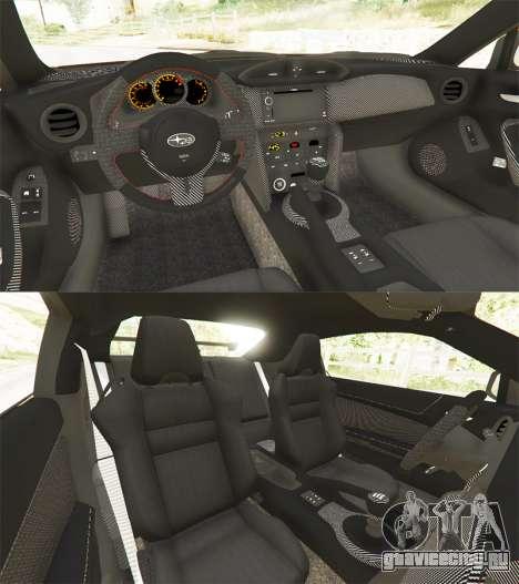 Subaru BRZ Rocket Bunny для GTA 5 вид сзади
