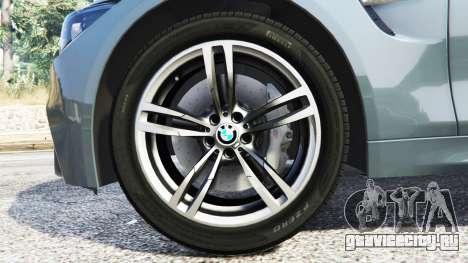 BMW M4 GTS для GTA 5 вид спереди справа