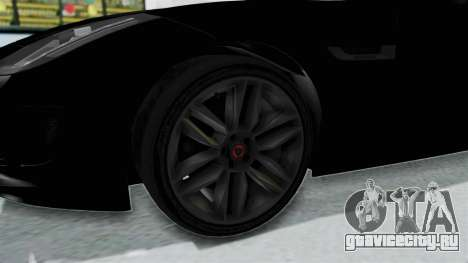 Jaguar F-Type Coupe 2015 для GTA San Andreas вид сзади