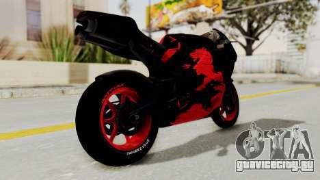 Bati Batik Hellboy Motorcycle v3 для GTA San Andreas вид справа