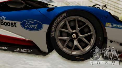 Ford GT 2016 LM для GTA San Andreas вид сзади