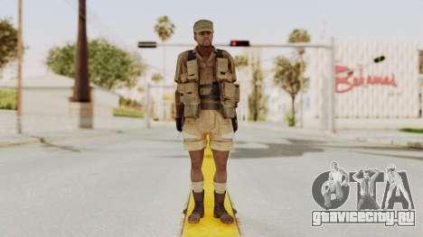 MGSV Phantom Pain CFA Combat Vest 2 v1 для GTA San Andreas второй скриншот