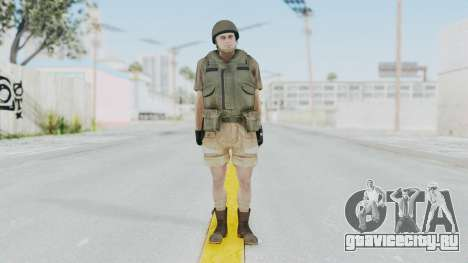 MGSV Phantom Pain CFA Vest v2 для GTA San Andreas второй скриншот