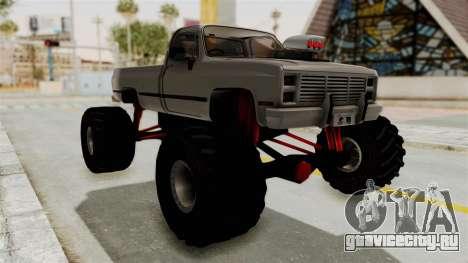 Chevrolet Silverado Classic 1985 Monster Truck для GTA San Andreas вид справа