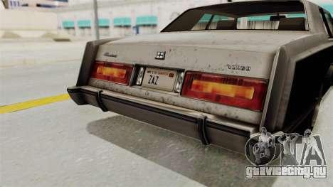 GTA 5 Dundreary Virgo SA Style для GTA San Andreas вид сверху