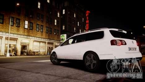 Volkswagen Passat Variant 2010 V1 для GTA 4 вид сзади слева