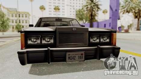 GTA 5 Dundreary Virgo SA Style для GTA San Andreas вид изнутри