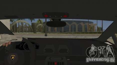 Lamborghini Huracan Liberty Walk для GTA San Andreas вид изнутри