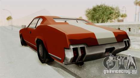 Beta VC Sabre Turbo для GTA San Andreas вид справа