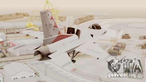 General Dynamics F-16A USAF Thunderbirds для GTA San Andreas вид слева
