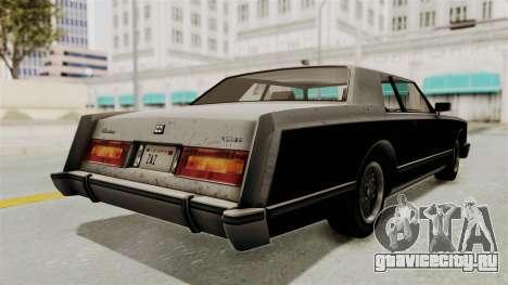 GTA 5 Dundreary Virgo SA Style для GTA San Andreas вид сзади слева