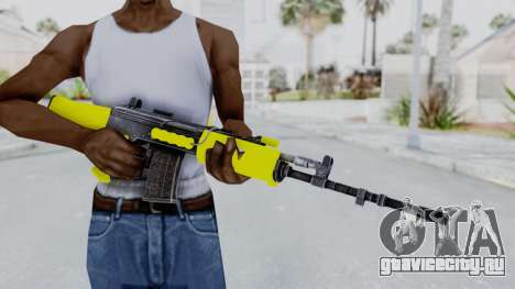 IOFB INSAS Yellow для GTA San Andreas третий скриншот