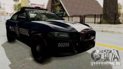Dodge Charger RT 2016 Federal Police для GTA San Andreas вид справа