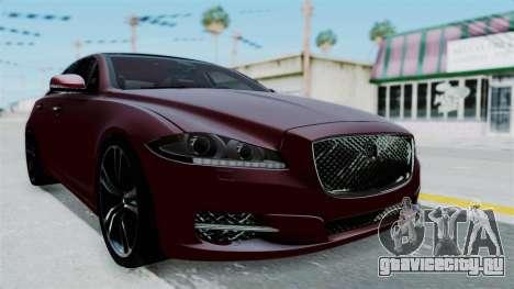 Jaguar XJ 2010 для GTA San Andreas вид справа