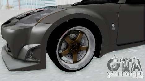 Nissan 350Z V6 Power для GTA San Andreas вид сзади