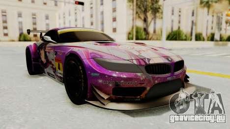 BMW Z4 GT3 Tobisawa Misaki для GTA San Andreas вид сзади слева