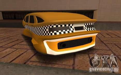 Flying Taxi для GTA San Andreas вид сзади слева
