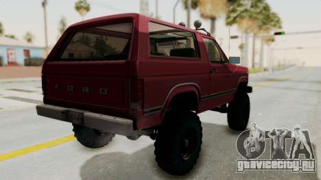 Ford Bronco 1985 Lifted для GTA San Andreas вид слева