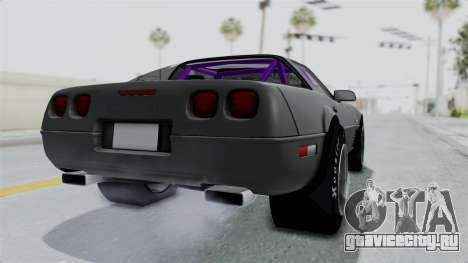 Chevrolet Corvette C4 Drag для GTA San Andreas вид сзади слева