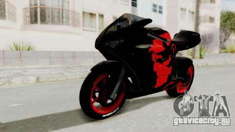 Bati Batik Hellboy Motorcycle v3 для GTA San Andreas вид сзади слева
