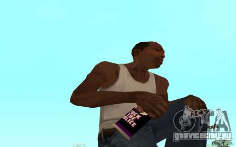 Purple fire weapon pack для GTA San Andreas седьмой скриншот