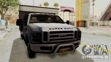 Ford F-350 Super Duty Volqueta для GTA San Andreas вид справа