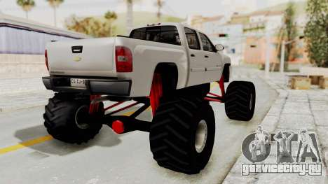 Chevrolet Silverado 2011 Monster Truck для GTA San Andreas вид слева