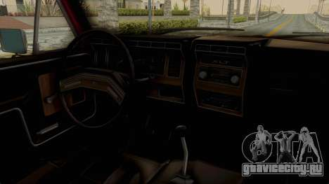 Ford Bronco 1985 Lifted для GTA San Andreas вид изнутри