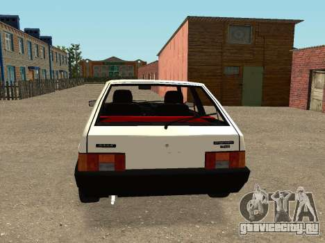 VAZ 2108 Stock by Greedy для GTA San Andreas вид справа