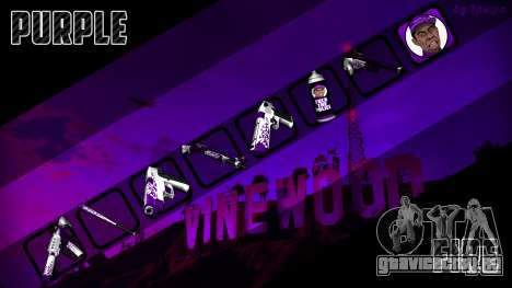 Purple fire weapon pack для GTA San Andreas