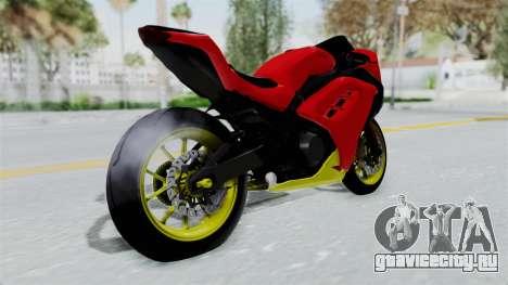 Kawasaki Ninja 250FI Anak Jalanan для GTA San Andreas вид слева