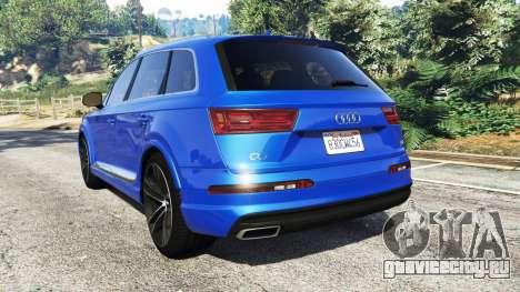 Audi Q7 2015 [rims2] для GTA 5 вид сзади слева