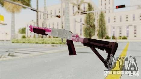 GTA 5 Pump Shotgun Pink для GTA San Andreas второй скриншот