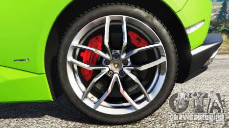Lamborghini Huracan LP 610-4 2016 для GTA 5 руль и приборная панель