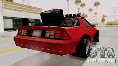 Chevrolet Camaro 1990 IROC-Z Rusty Rebel для GTA San Andreas вид слева