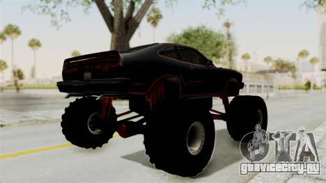 Ford Mustang King Cobra 1978 Monster Truck для GTA San Andreas вид сзади слева