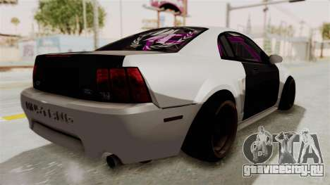 Ford Mustang 1999 Drift для GTA San Andreas вид сзади слева