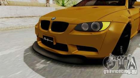 BMW M3 E92 Liberty Walk для GTA San Andreas вид сверху