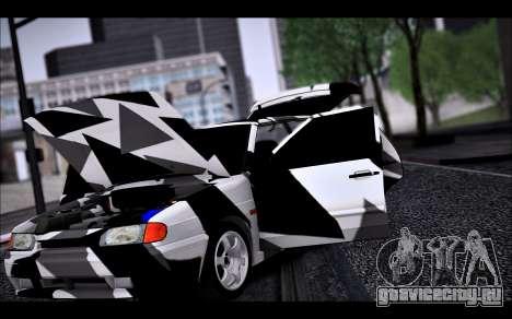 VAZ 2114 Triangle для GTA San Andreas вид сверху