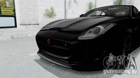 Jaguar F-Type Coupe 2015 для GTA San Andreas вид снизу