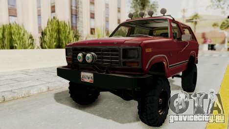 Ford Bronco 1985 Lifted для GTA San Andreas вид справа