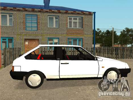 VAZ 2108 Stock by Greedy для GTA San Andreas вид сзади слева