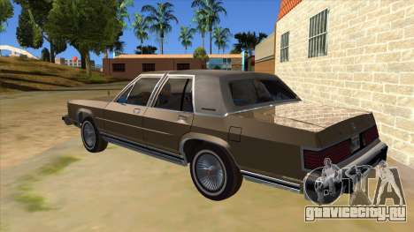 Mercury Grand Marquis 1986 v1.0 для GTA San Andreas вид сзади слева