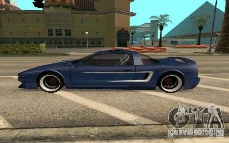 Infernus BlueRay V12 для GTA San Andreas вид слева
