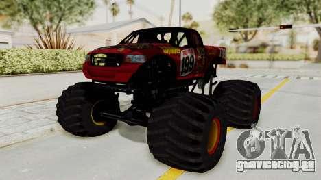 Pastrana 199 Monster Truck для GTA San Andreas вид сзади слева