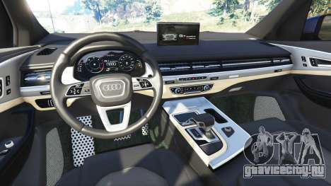 Audi Q7 2015 [rims2] для GTA 5 вид сзади справа