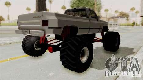 Chevrolet Silverado Classic 1985 Monster Truck для GTA San Andreas вид сзади слева