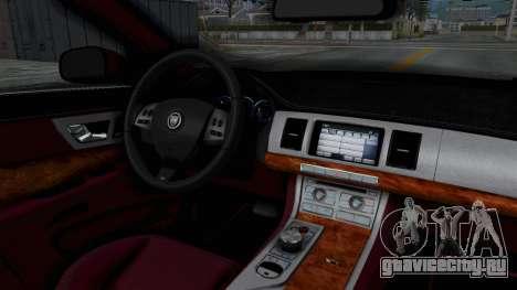 Jaguar XJ 2010 для GTA San Andreas вид изнутри